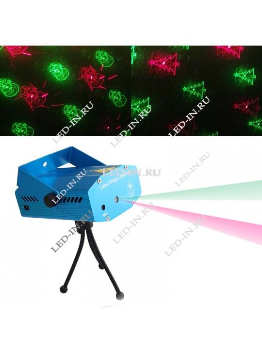 Лазерный проектор  X8  - новогодняя версия