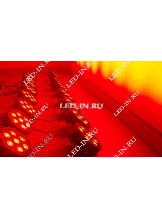 LED Par 7*10 Вт  RGBW 4 в 1 уцененный