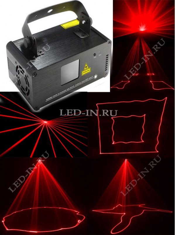 Лазерный шоу-проектор К100 - красный