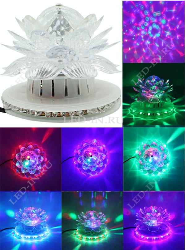 Волшебный цветок LED