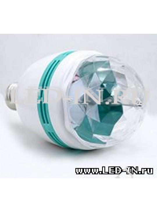 Диско-лампа вращающаяся E27