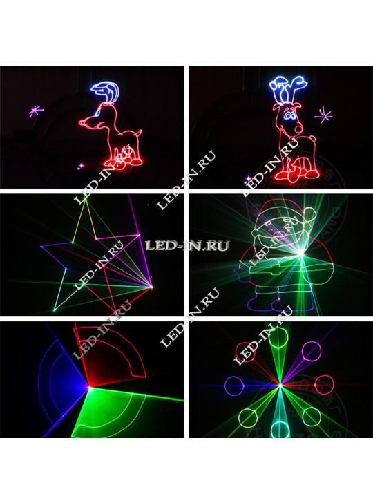 Лазерный анимационный проектор 500мВт