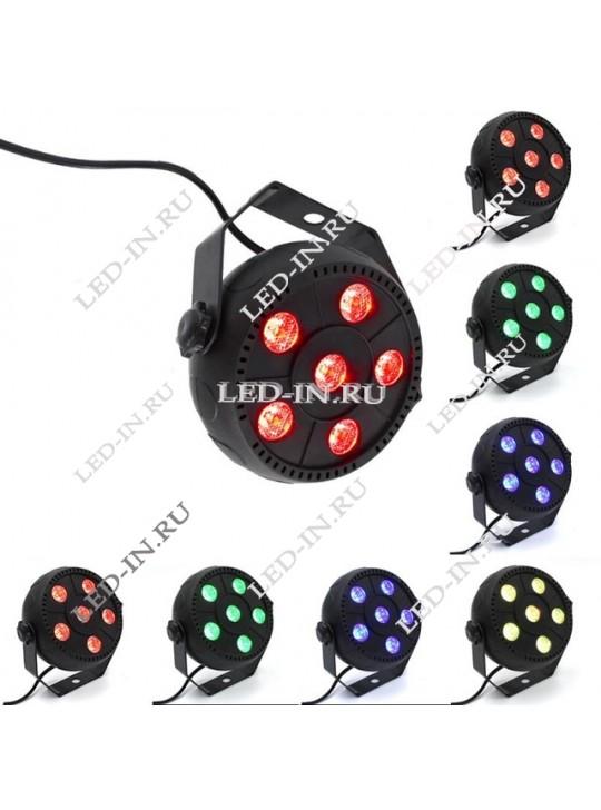Мультицвет 6 LED