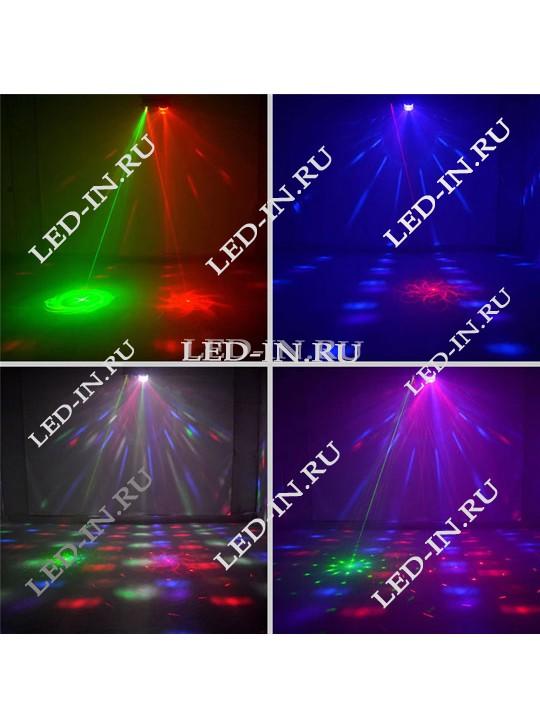 Светодиодно-лазерная шоу система  4 в 1