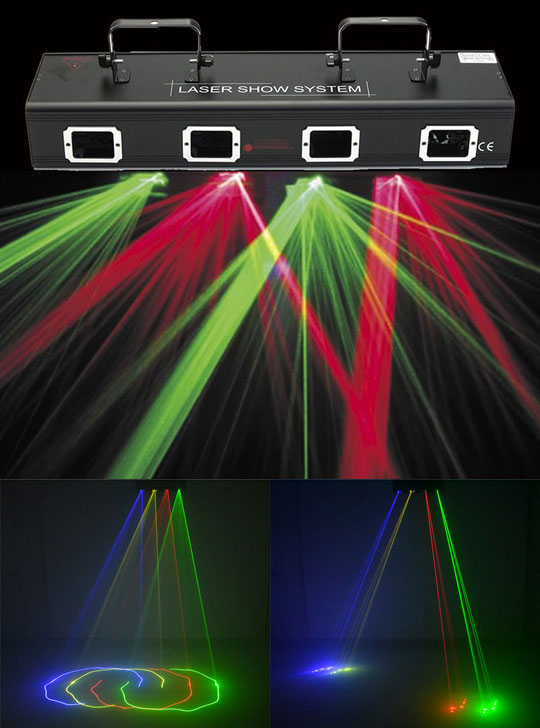 Лазерная шоу система А4