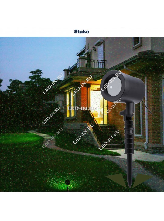 Лазерный проектор для улицы с пультом ДУ